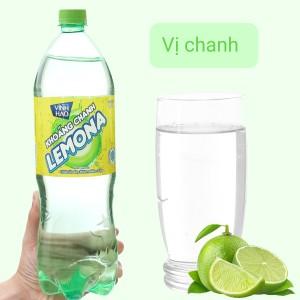Nước khoáng có ga Vĩnh Hảo Lemona vị chanh 1.5 lít