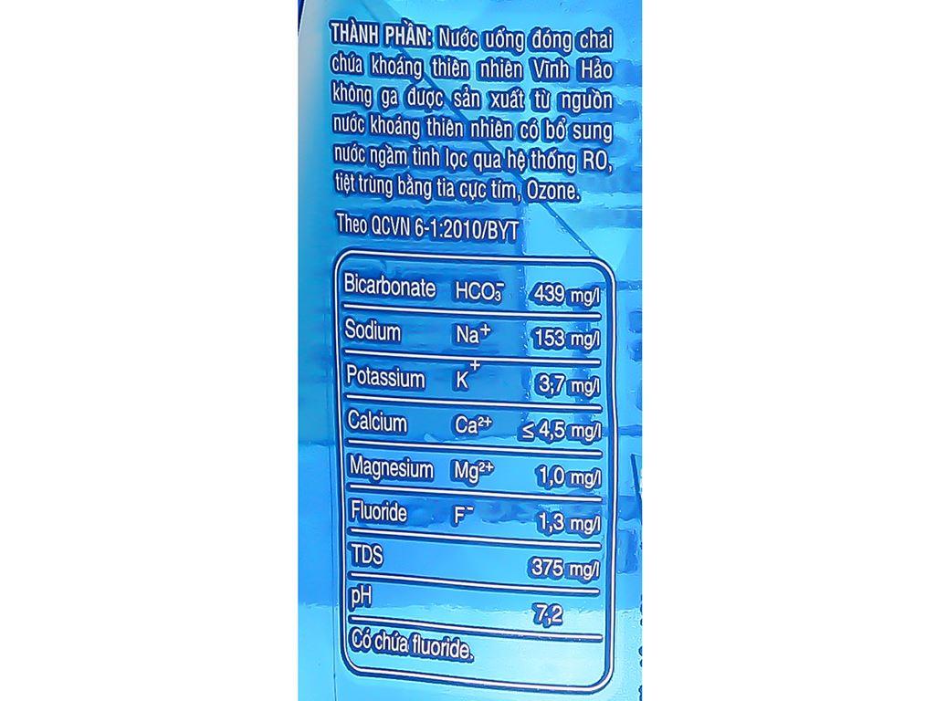 Thùng 12 chai nước khoáng Vĩnh Hảo 1.5 lít 4
