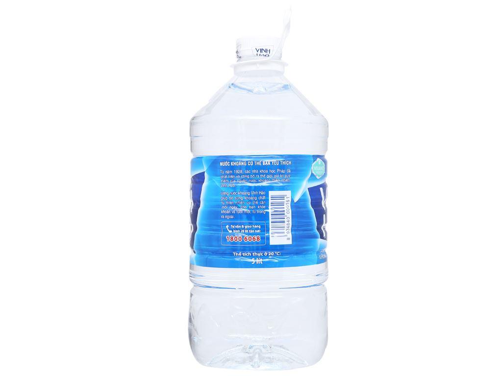 Thùng 4 chai nước khoáng Vĩnh Hảo 5 lít 5