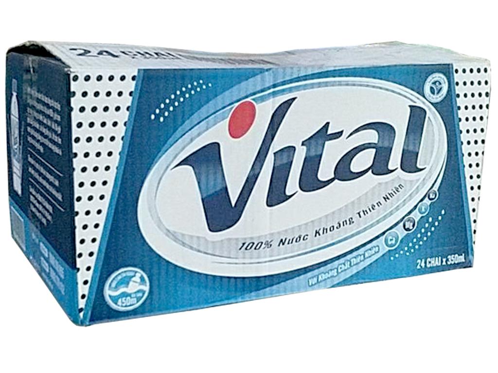 Thùng 24 chai nước khoáng Vital 350ml 1