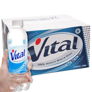 Thùng 24 chai nước khoáng Vital 500ml