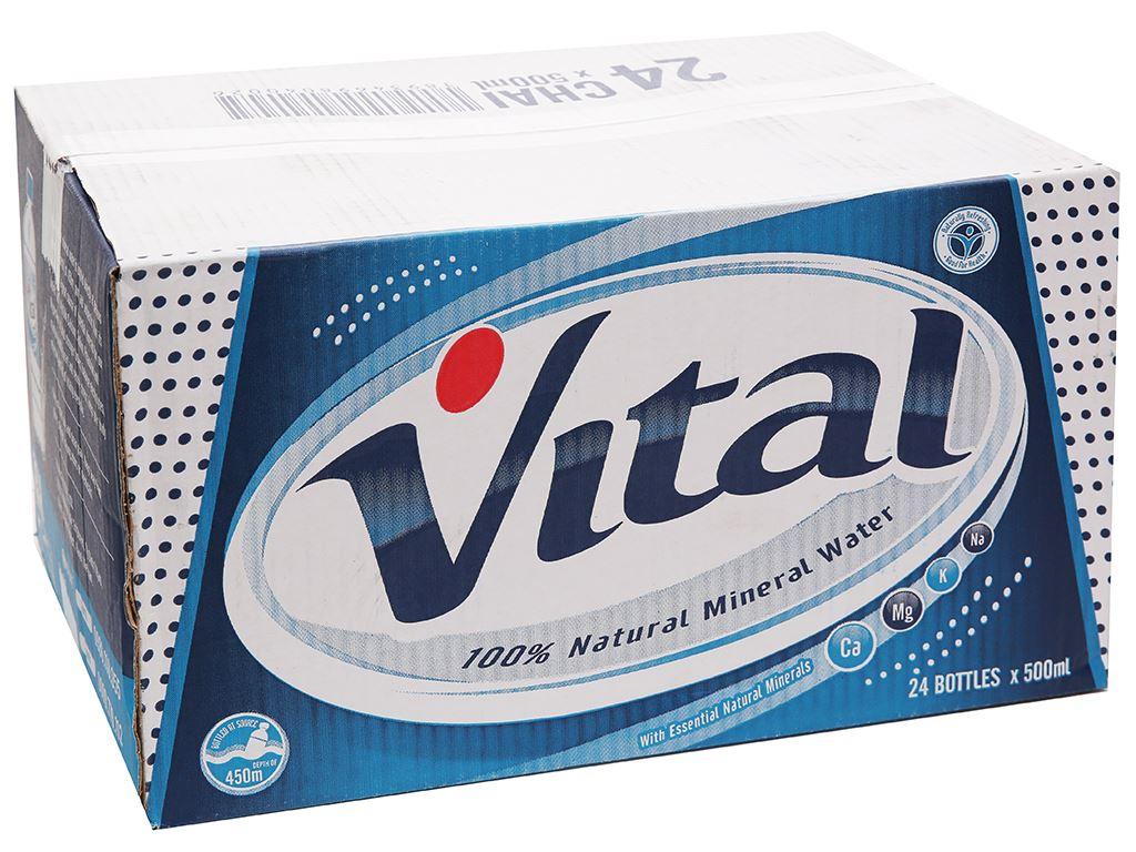 Thùng 24 chai nước khoáng Vital 500ml 1