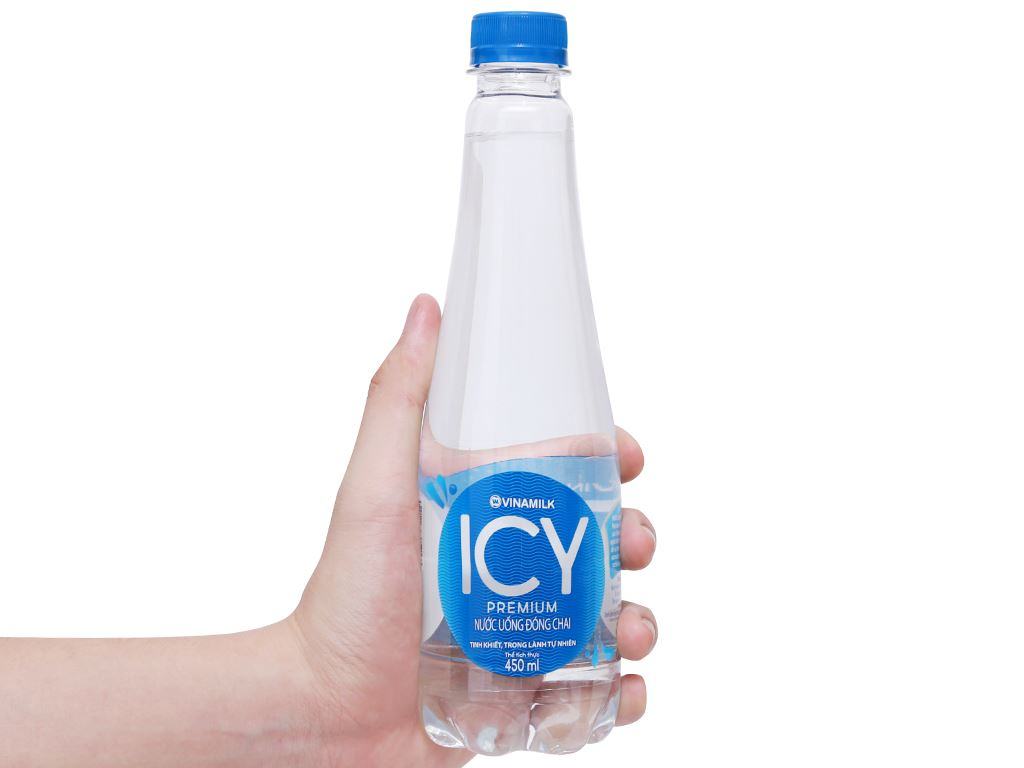 Thùng 24 chai nước tinh khiết ICY Premium 450ml 11