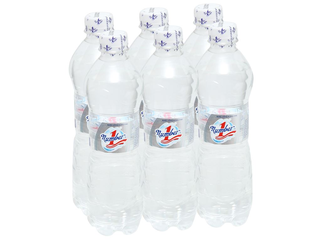 6 chai nước tinh khiết Number1 500ml 1