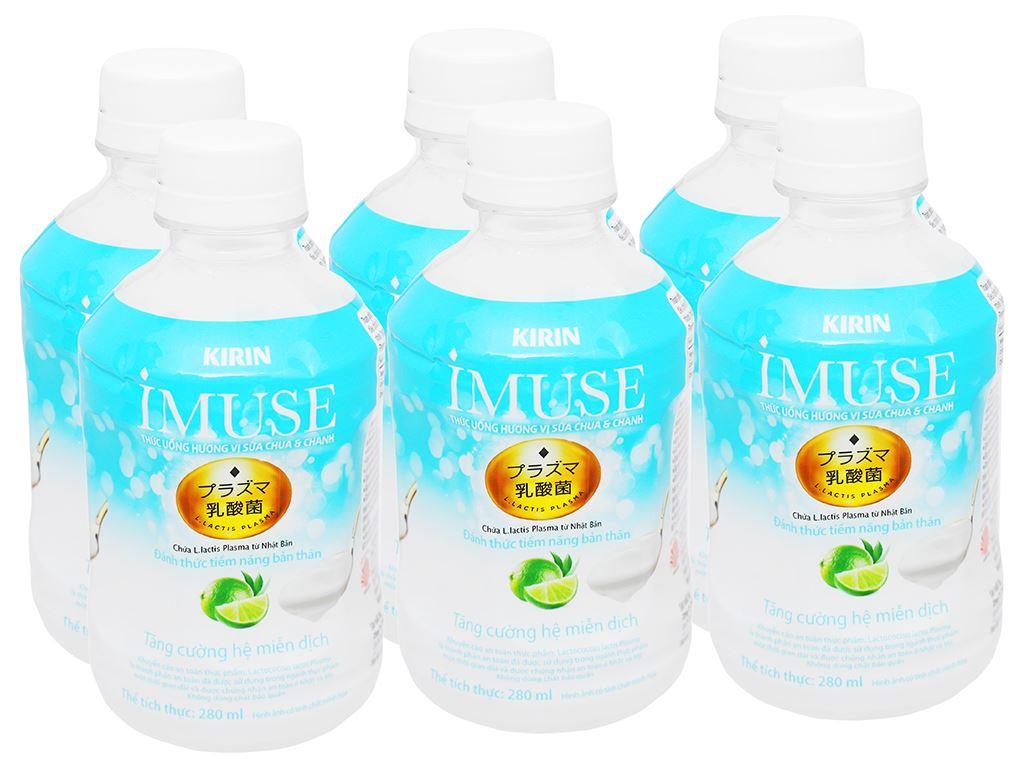 6 chai nước uống Kirin Imuse vị sữa chua và chanh 280ml 5