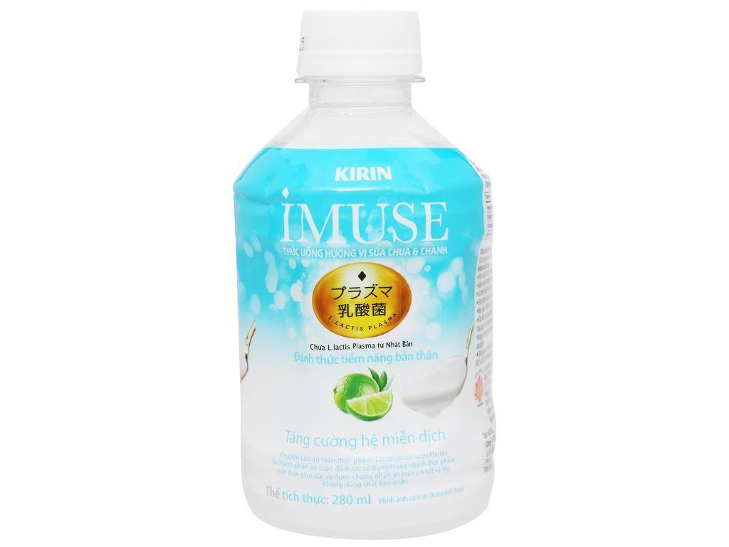 Thùng 24 chai nước uống Kirin Imuse vị sữa chua và chanh 280ml 6