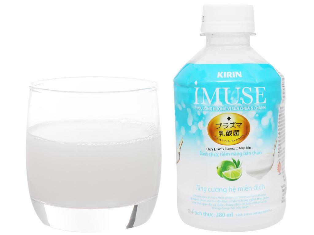 Thùng 24 chai nước uống Kirin Imuse vị sữa chua và chanh 280ml 10