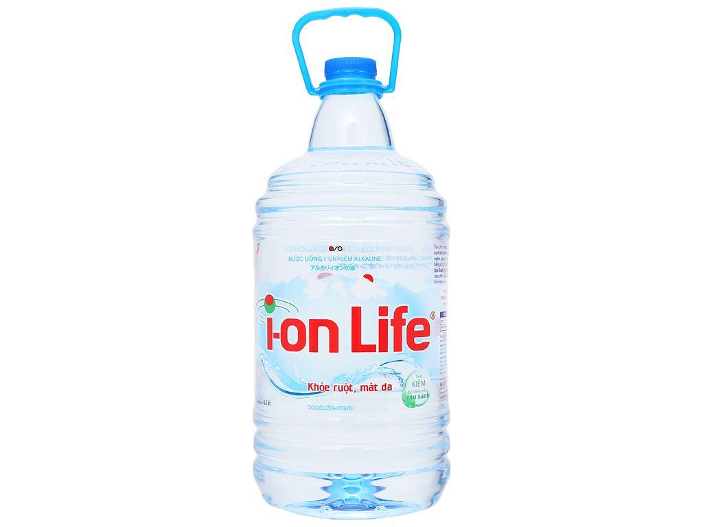 Thùng 4 chai nước uống i-on kiềm Akaline I-on Life 4.5 lít 2