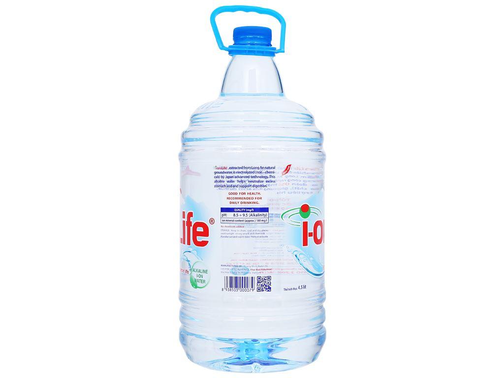 Thùng 4 chai nước uống i-on kiềm Akaline I-on Life 4.5 lít 4