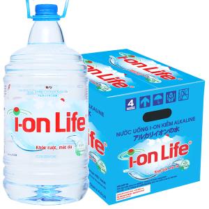 Thùng 4 chai nước uống i-on kiềm Akaline I-on Life 4.5 lít