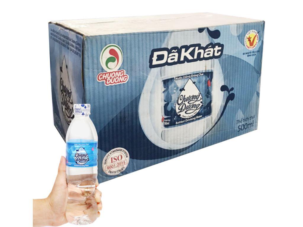 Thùng 24 chai nước uống Chương Dương 500ml 1