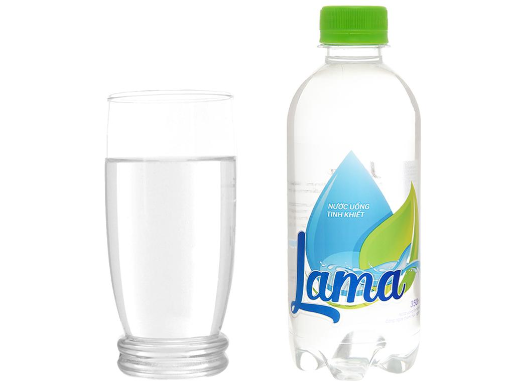 Thùng 24 chai nước tinh khiết Lama 350ml 7