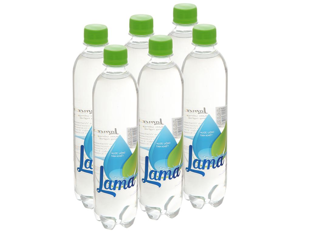 6 chai nước tinh khiết Lama 500ml 1