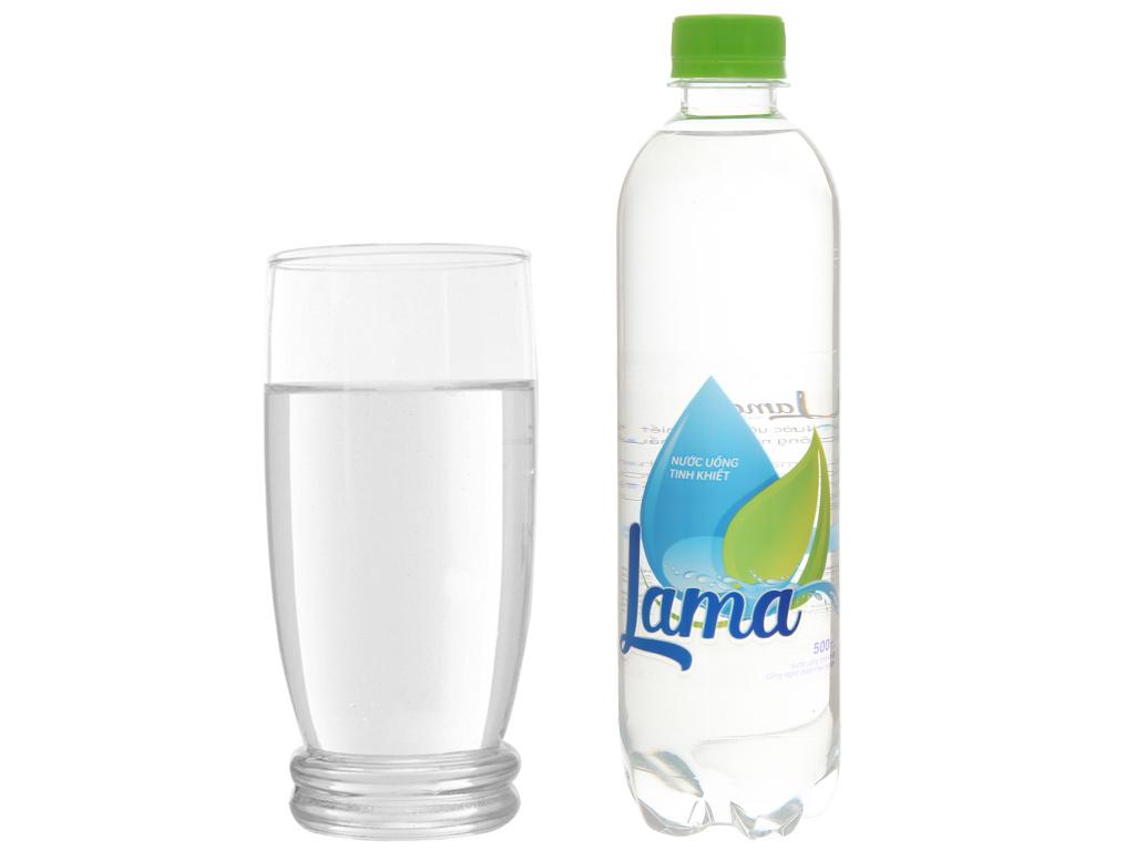 Thùng 24 chai nước tinh khiết Lama 500ml 6