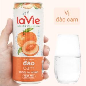 Nước uống vị trái cây có ga La Vie Sparkling hương đào cam 330ml