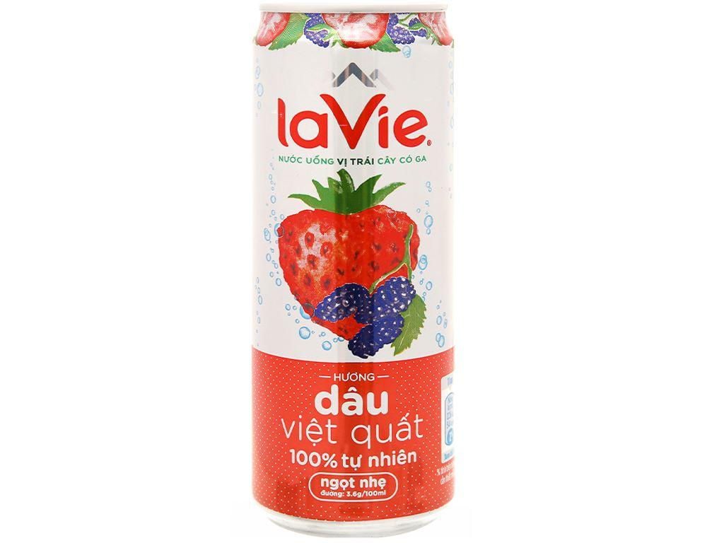 Nước uống vị trái cây có ga La Vie Sparkling hương dâu việt quất 330ml 2