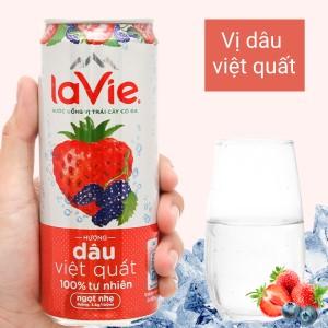 Nước uống vị trái cây có ga La Vie Sparkling hương dâu việt quất 330ml
