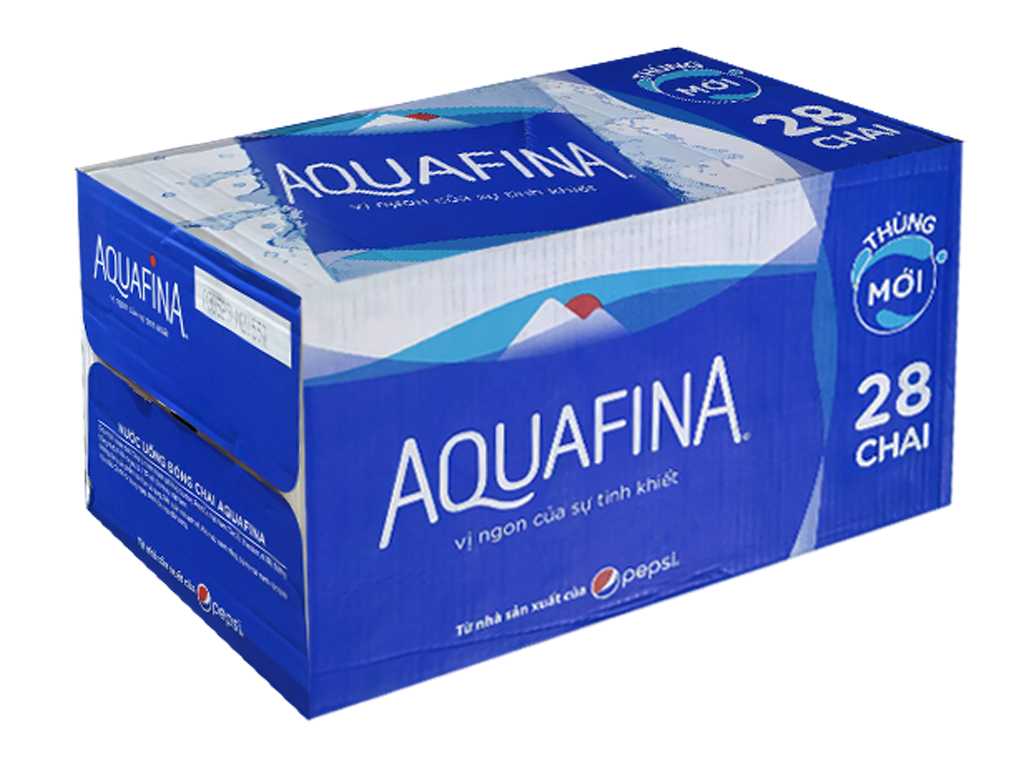 Thùng 28 chai nước tinh khiết Aquafina 500ml 1
