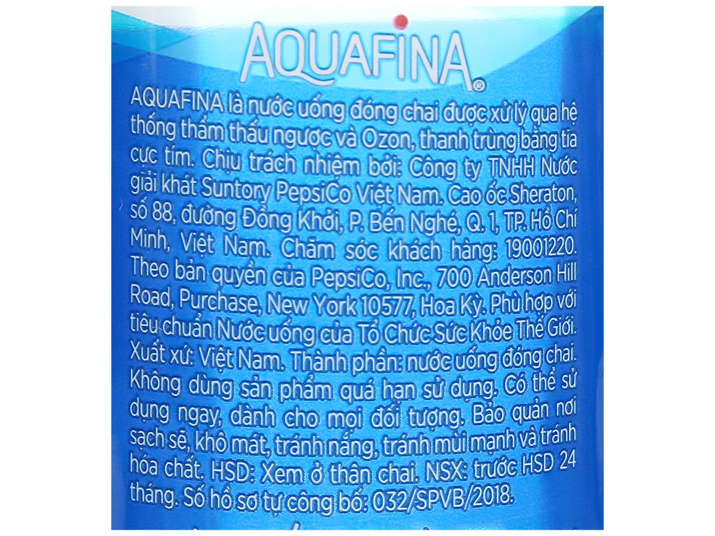 Thùng 28 chai nước tinh khiết Aquafina 500ml 5