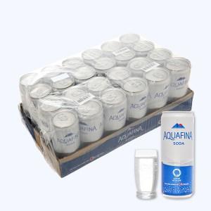 Thùng 24 lon nước giải khát có ga Aquafina Soda 320ml