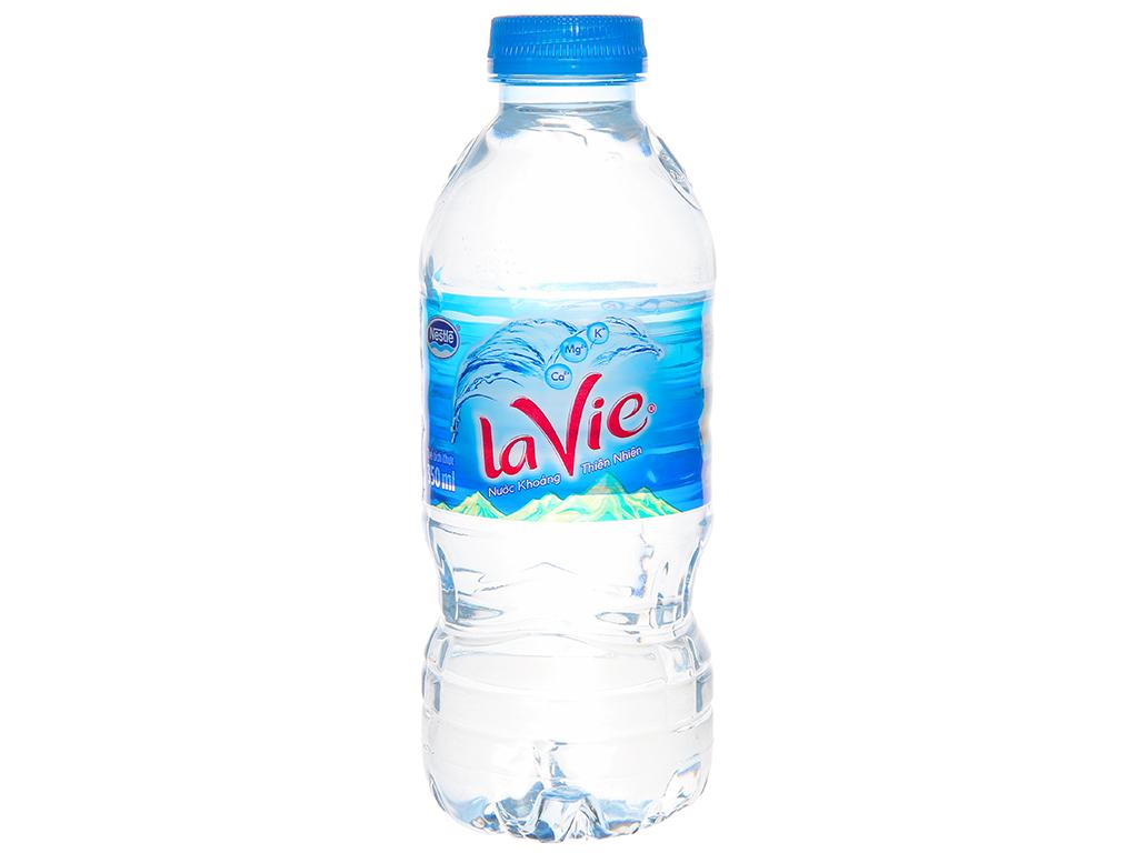 Thùng 24 chai nước khoáng La Vie 350ml 2