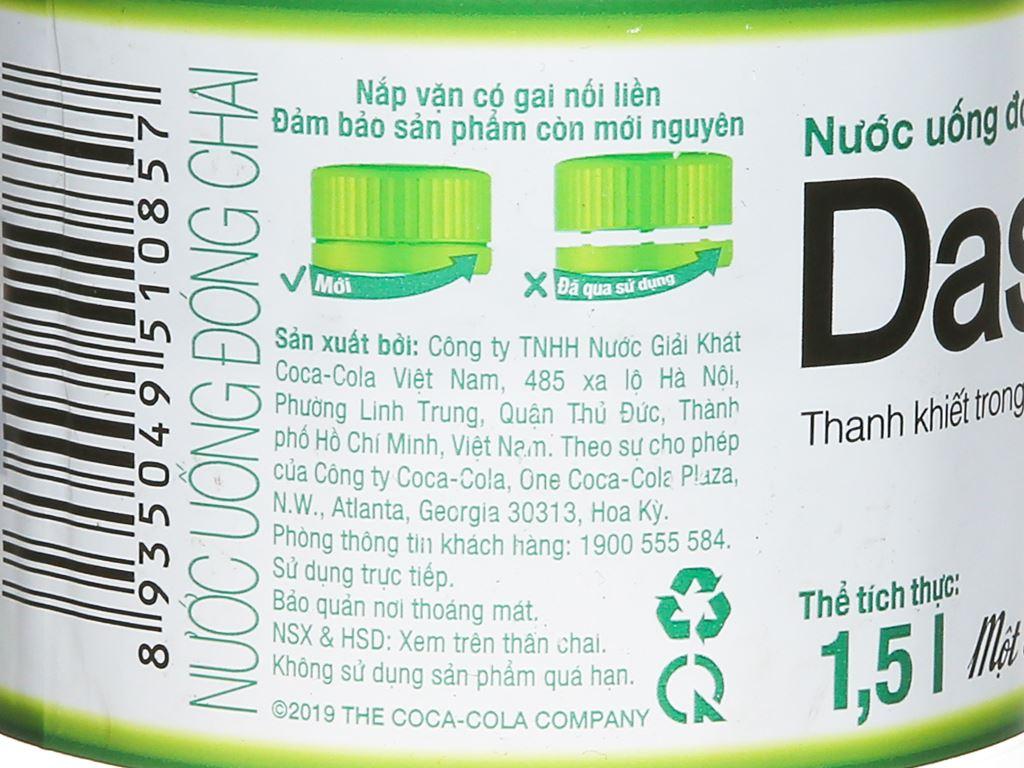 Nước tinh khiết Dasani 1.5 lít 3
