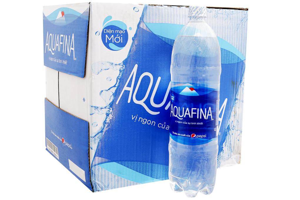 Thùng 12 chai nước tinh khiết Aquafina 1.5 lít 1