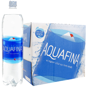 Thùng 12 chai nước tinh khiết Aquafina 1.5 lít