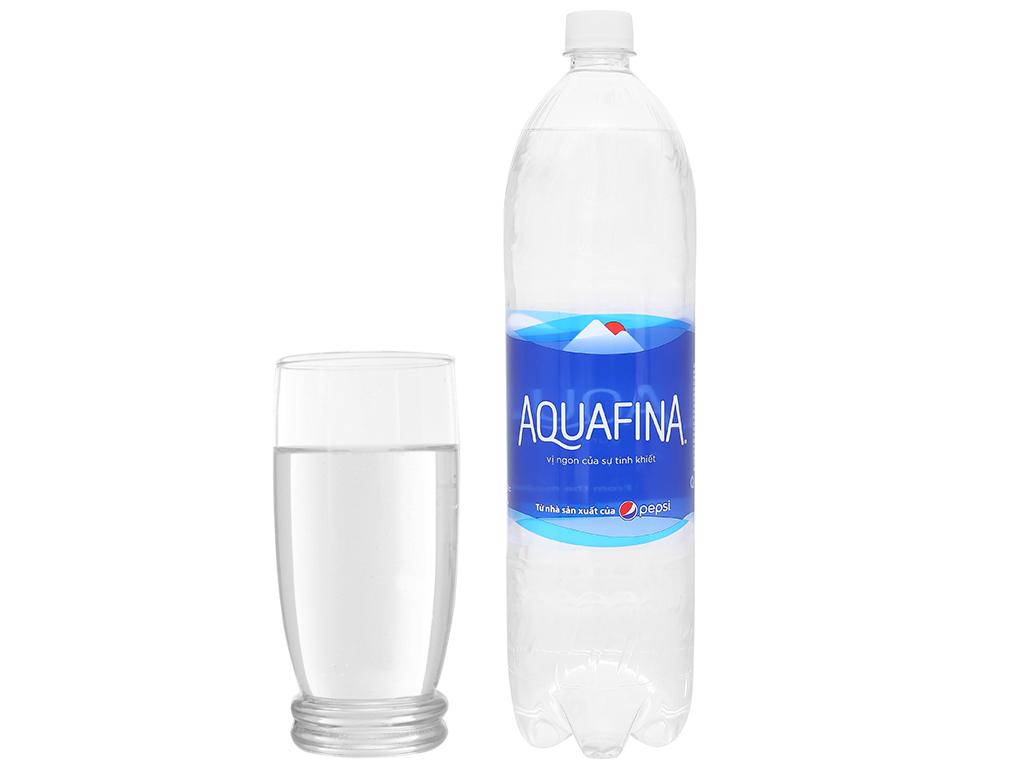 Thùng 12 chai nước tinh khiết Aquafina 1.5 lít 6