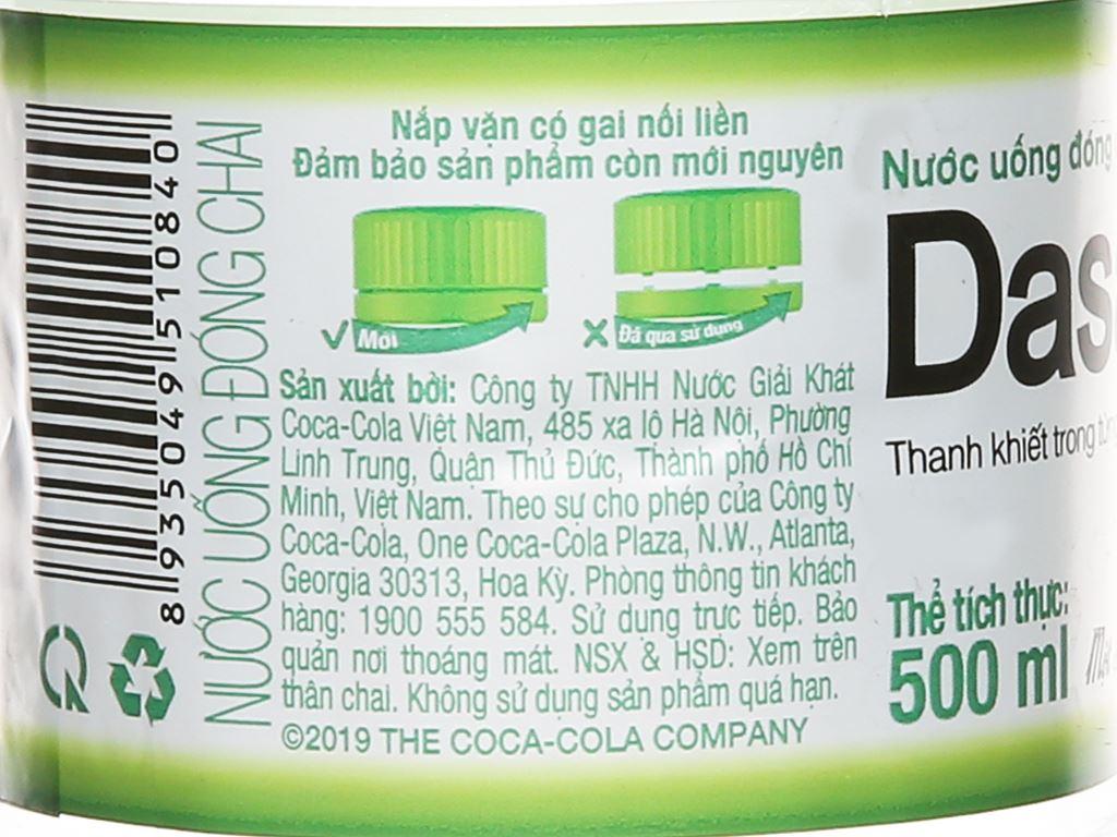 Nước tinh khiết Dasani 500ml 3