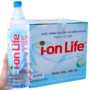 Thùng 12 chai nước khoáng I-on Life 1.25 lít