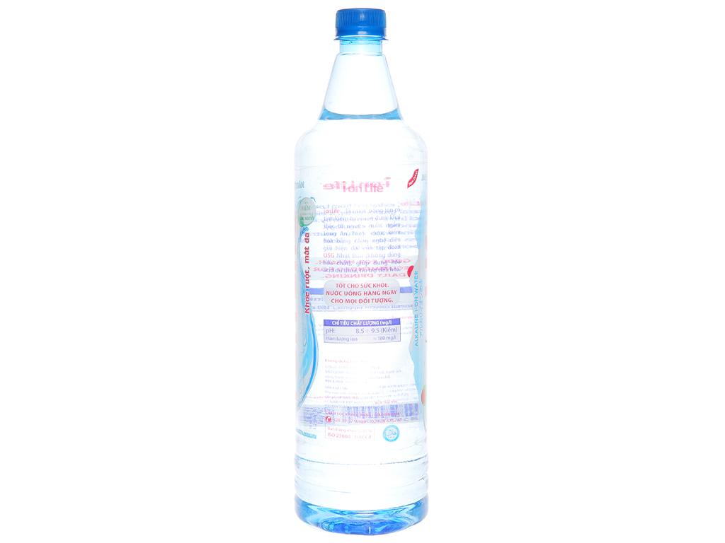 Thùng 12 chai nước uống i-on kiềm Akaline I-on Life 1.25 lít 3