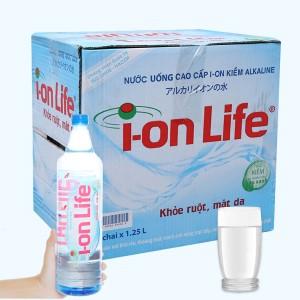 Thùng 12 chai nước uống i-on kiềm Akaline I-on Life 1.25 lít