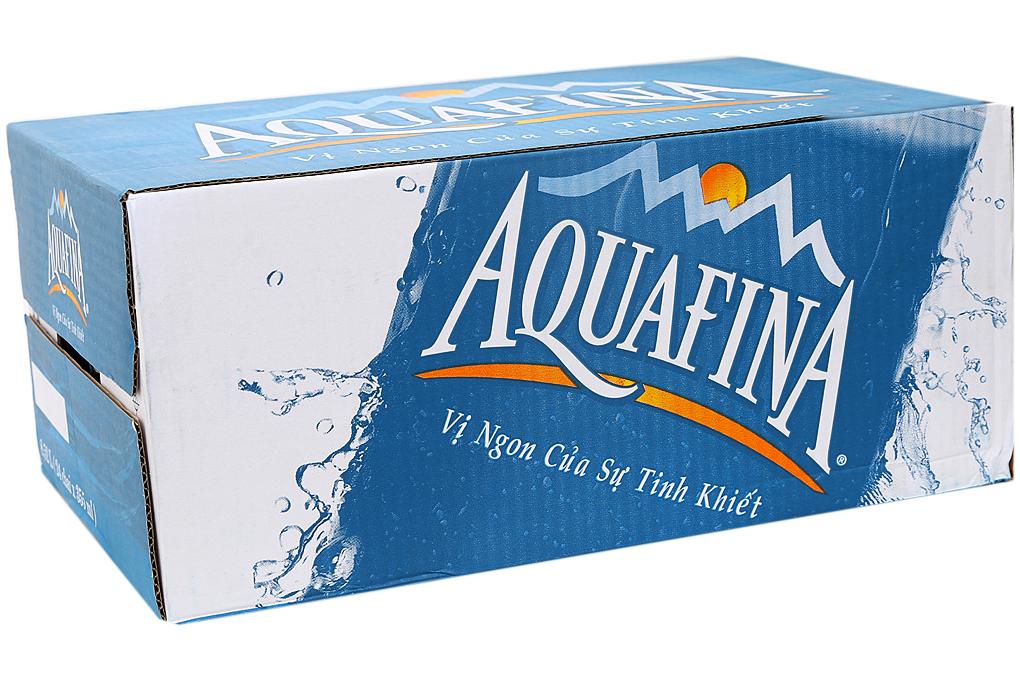 Nước suối Aquafina 355ml (thùng 24 chai)