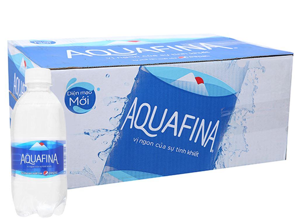 Thùng 24 chai nước tinh khiết Aquafina 355ml 1