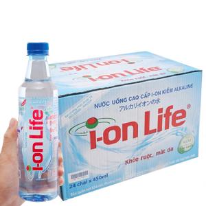 Thùng 24 chai nước khoáng I-on Life 450ml