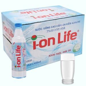 Thùng 24 chai nước uống i-on kiềm Akaline I-on Life 450ml