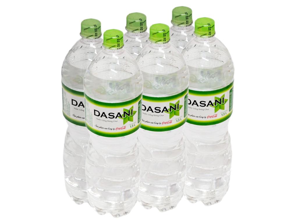 6 chai nước tinh khiết Dasani 1.5 lít 1