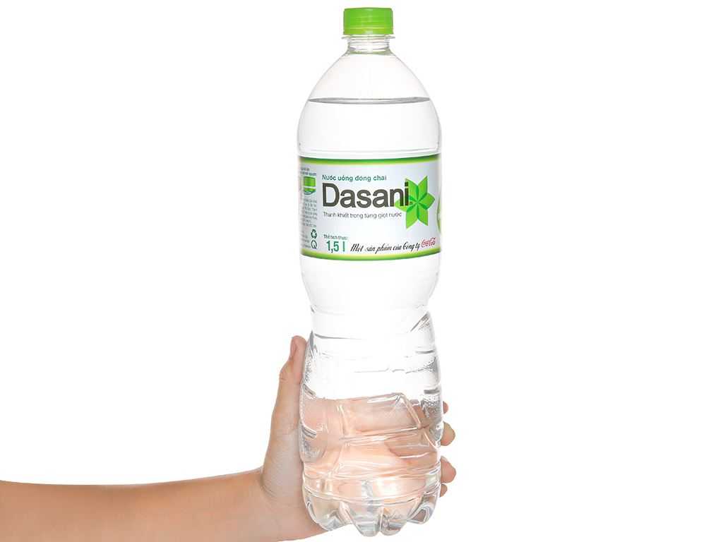 6 chai nước tinh khiết Dasani 1.5 lít 5