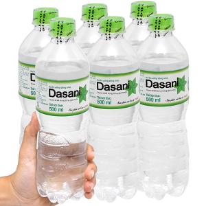 6 chai nước tinh khiết Dasani 500ml