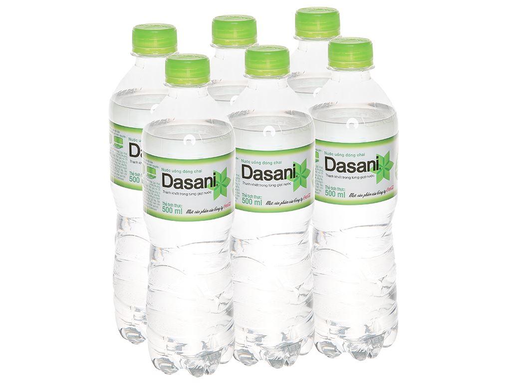 6 chai nước tinh khiết Dasani 500ml 1
