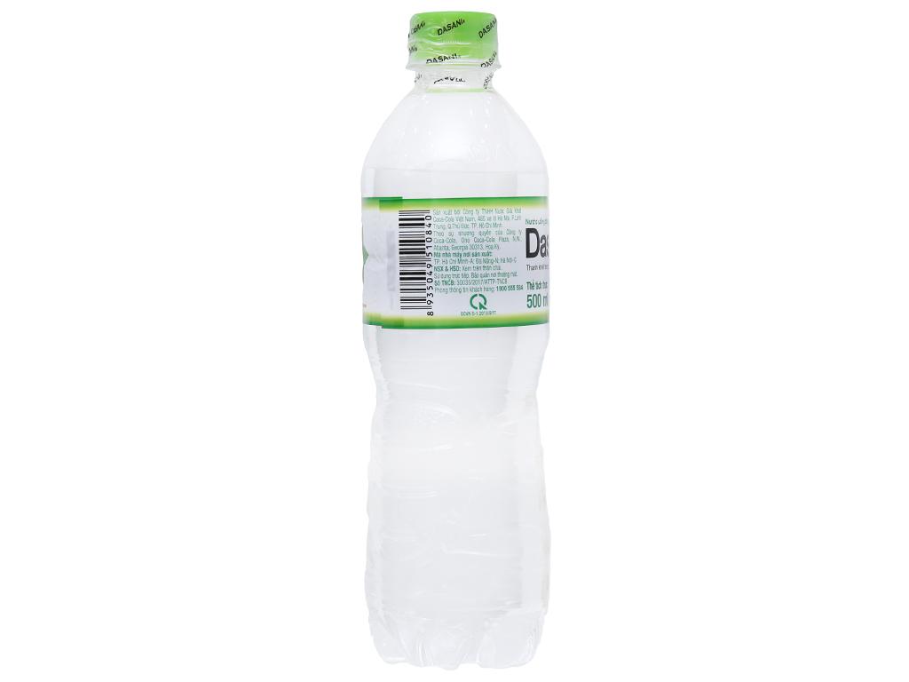 6 chai nước tinh khiết Dasani 500ml 4