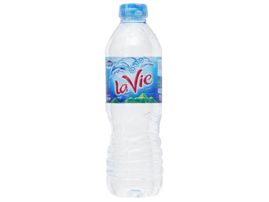 Thùng 24 chai nước khoáng La Vie 500ml 2