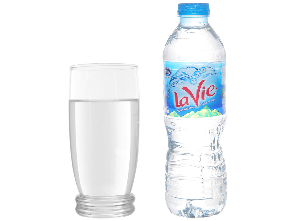 Thùng 24 chai nước khoáng La Vie 500ml 6