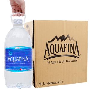 Thùng 4 chai nước tinh khiết Aquafina 5 lít