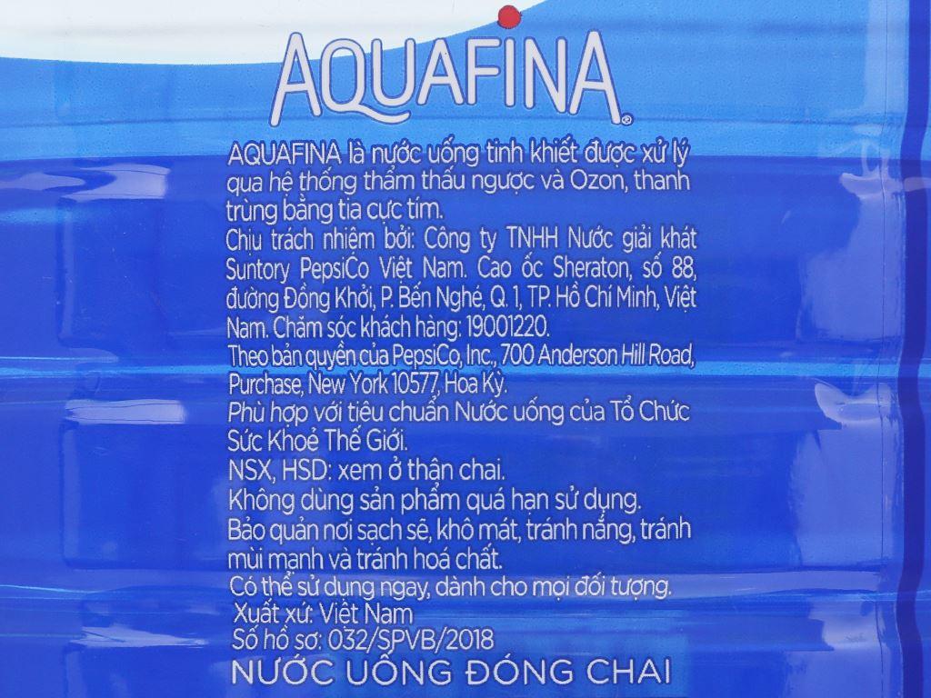 Thùng 4 chai nước tinh khiết Aquafina 5 lít 5