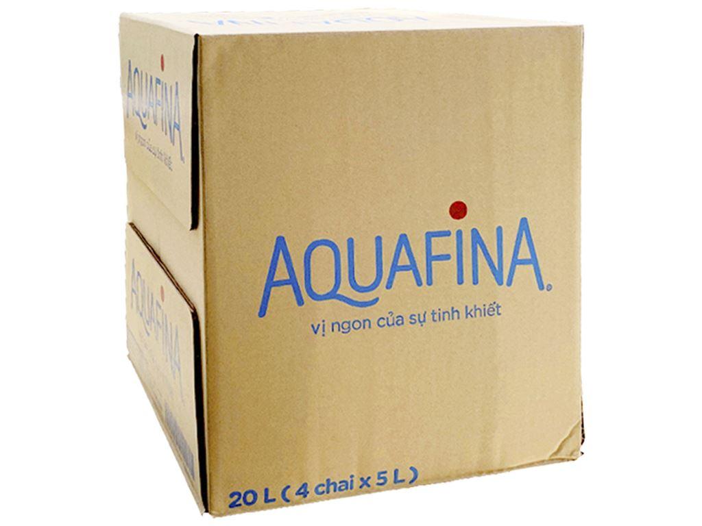 Thùng 4 chai nước tinh khiết Aquafina 5 lít 1
