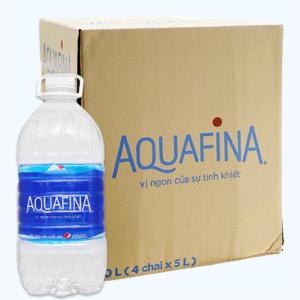 Thùng 4 chai nước Aquafina 5 lít
