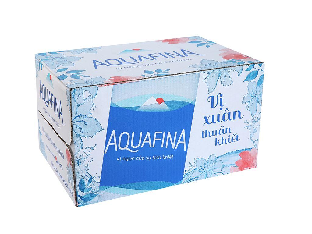 Thùng 24 chai nước tinh khiết Aquafina 500ml 1