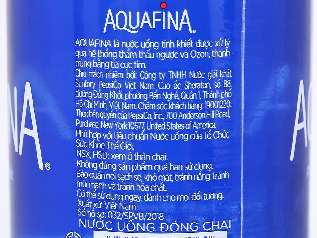 Thùng 24 chai nước tinh khiết Aquafina 500ml 5